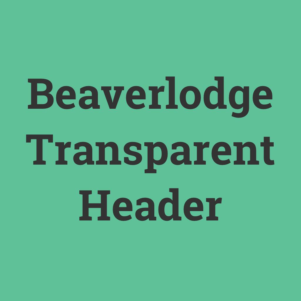 Beaverlodge Transparent Header logo