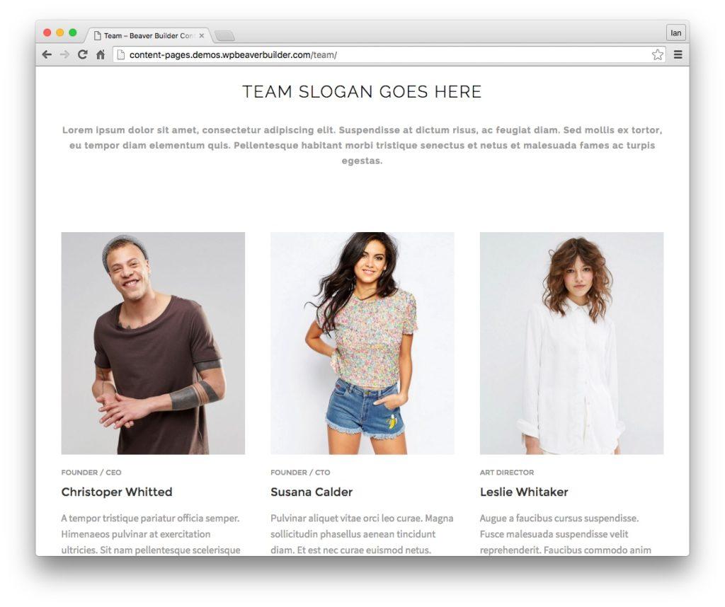 beaver builder plugin and theme updates content templates team 2