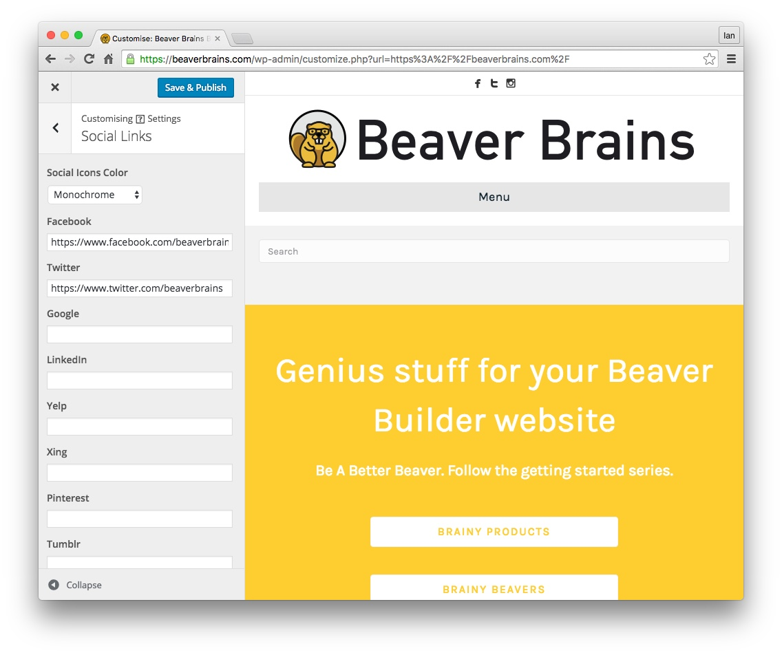 beaver builder font awesome social icons 01