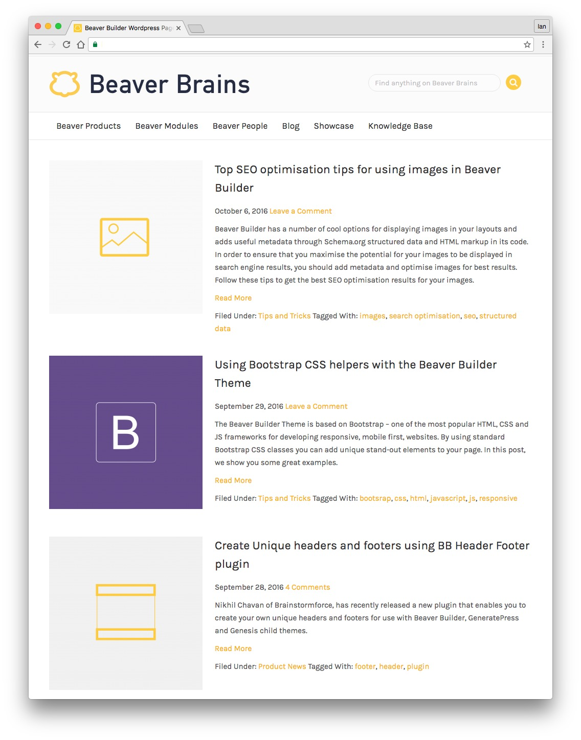 featured posts module for beaver builder full width view