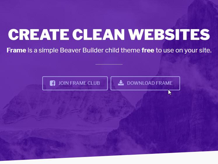 Frame - A free child theme for Beaver Builder